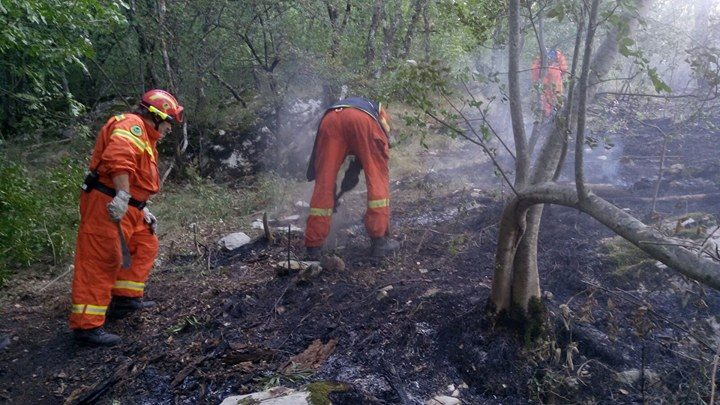 incendio a Morello