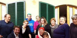 Lorenzo Falchi con Gemma Benelli e familiari
