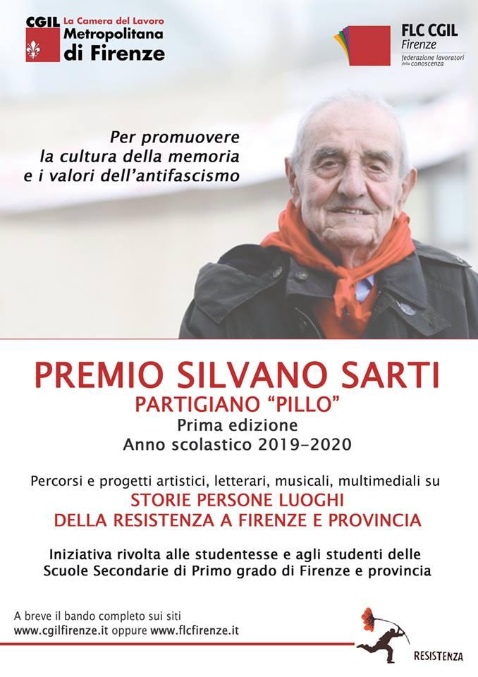 Locandina premio Silvano sarti il partigiano Pillo