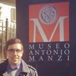 Paolo Gandola davanti al Museo Manzi a Campi Bisenzio