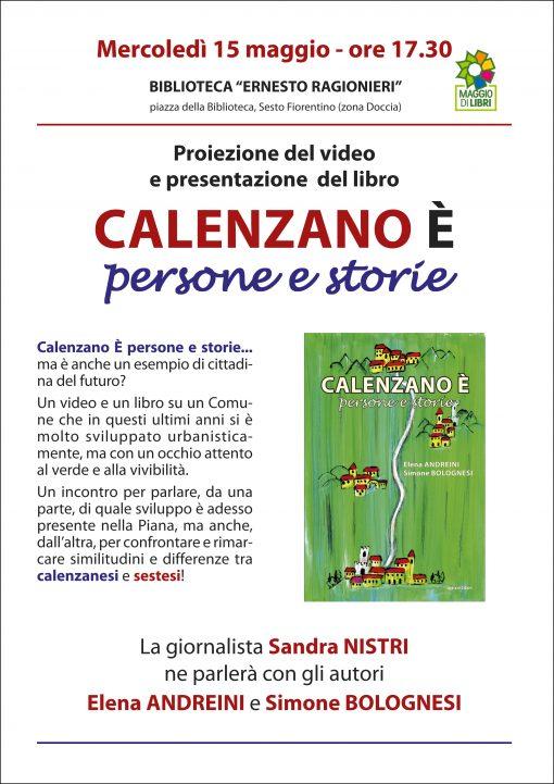 Locandina libro Calenzano e persone e storie
