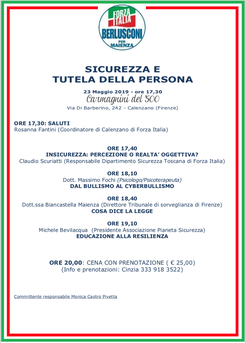 Forza Italia iniziativa elettorale