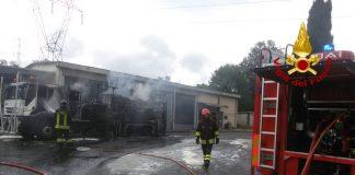 Vigili del fuoco al casello di Calenzano