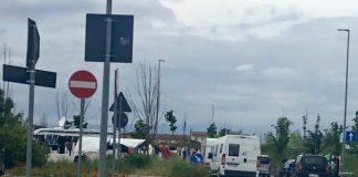 Accampamento nomade in via delle cicogne