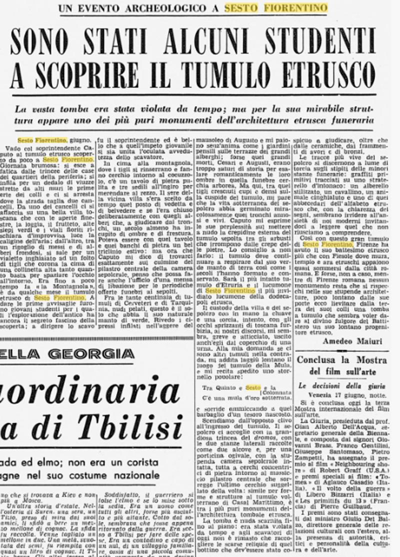 Sfogliando vecchi giornali- Scoperta Montagnola