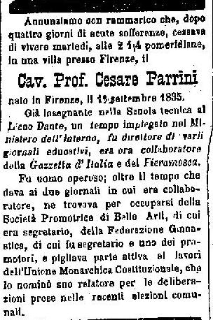Necrologio Parrini