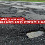 Sinistra per Calenzano-buche stradale