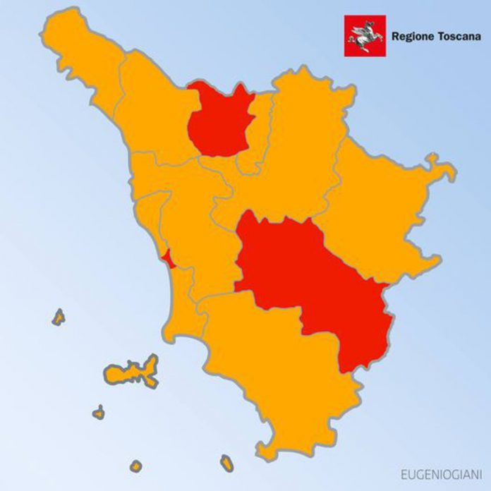 Toscana arancione e rossa