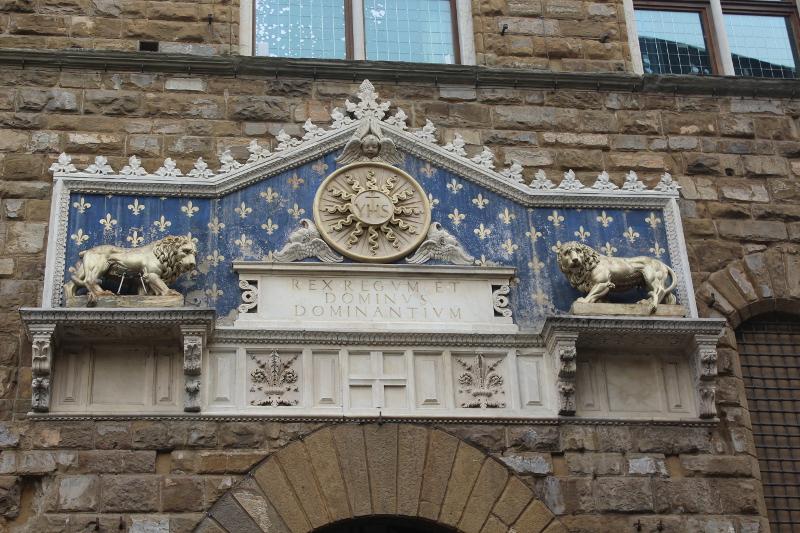 Palazzo vecchio targa entrata