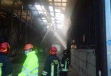 Incendio tetto impianto compostaggio Case Passerini 02.03.21 2