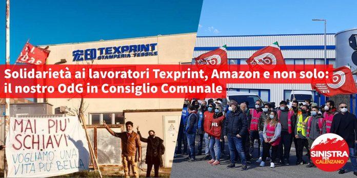 Sinistra per Calenzano-Texprint-Amazon